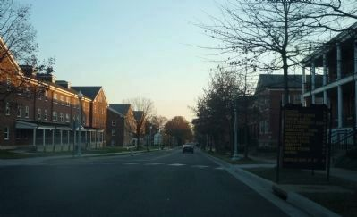 Fort Myer Historic District - view looking south on Sheridan Street from near marker image. Click for full size.