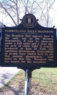 Up-date Photo - - Cumberland Falls MoonBow Marker Photo, Click for full size