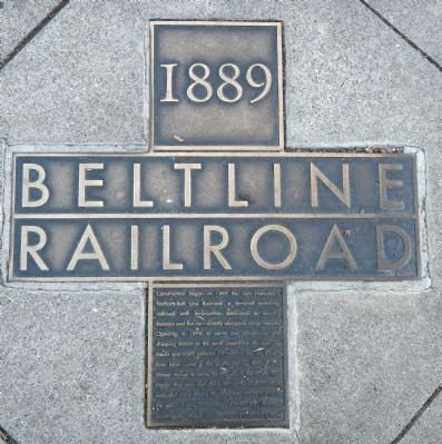 Belt Line Railroad Marker image. Click for full size.