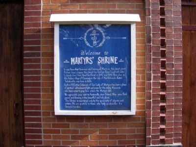 The National Martyrs' Shrine of America Marker image. Click for full size.