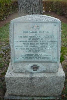 12th Pennsylvania Volunteer Infantry: Spanish American War Marker image. Click for full size.