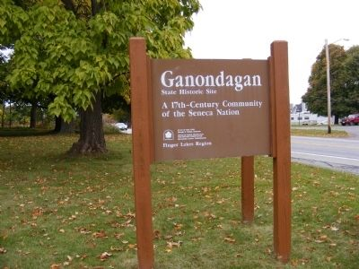 Ganondagan-Town of White Marker image. Click for full size.