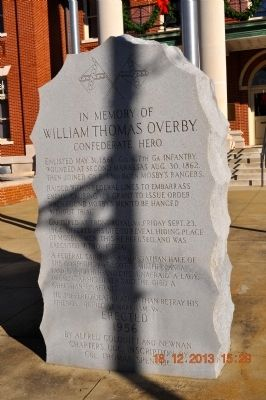 William Thomas Overby Marker image. Click for full size.