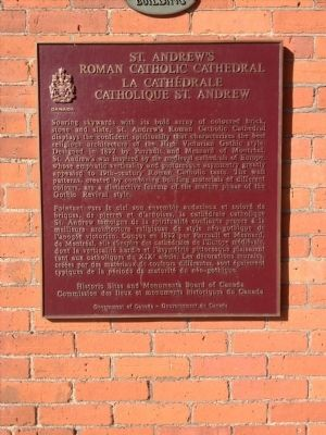 St. Andrew's Roman Catholic Cathedral Marker image. Click for full size.