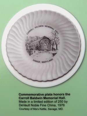 Commemorative Plate<br>honors the Carroll Baldwin Memorial Hall. image. Click for full size.