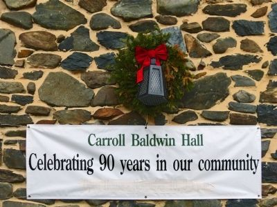 Carroll Baldwin Hall<br>Celebrating 90 years in our community image. Click for full size.