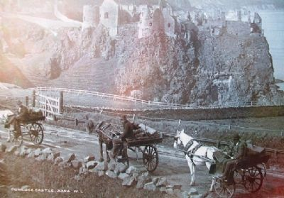 Photo of Dunluce Castle on Marker image. Click for full size.
