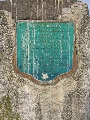 Royal Roads Marker image. Click for full size.
