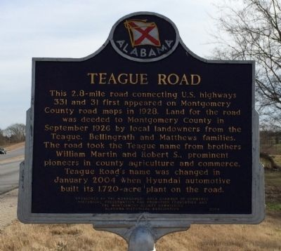 Teague Road Marker image. Click for full size.