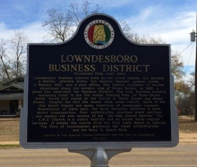 Lowndesboro Business District Marker image. Click for full size.