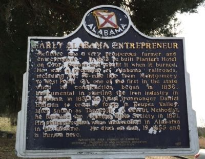 Early Alabama Entrepreneur Marker image. Click for full size.