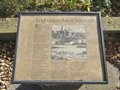 Logbooms Meet Sawmills Marker image. Click for full size.