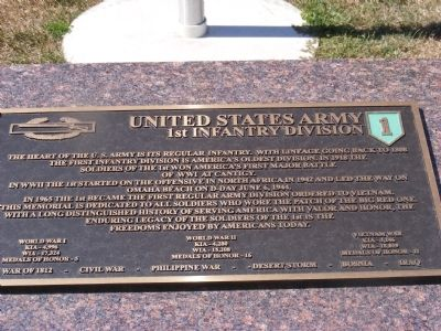 United States Army 1st Infantry Division Marker image. Click for full size.