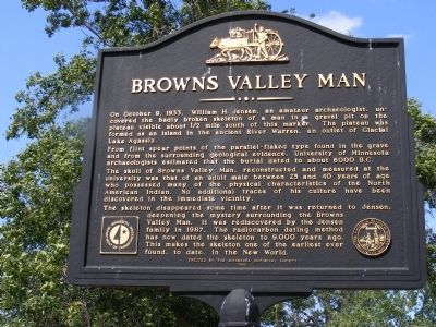 Browns Valley Man Marker image. Click for full size.