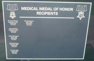 Medical Medal of Honor Recipients - Panel 4 image. Click for full size.