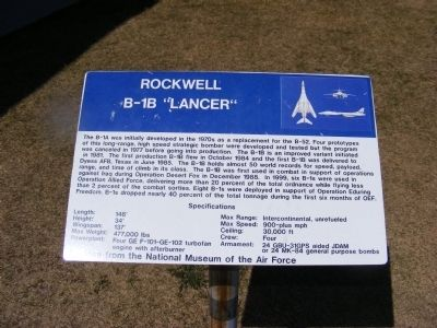 "Rockwell-B-1B ""Lancer"" Marker image. Click for full size."