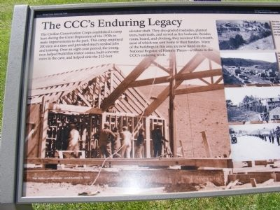 The CCC's Enduring Legacy Marker image. Click for full size.