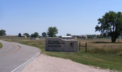 Fort Laramie National Historic Site-Entrance Sign image. Click for full size.
