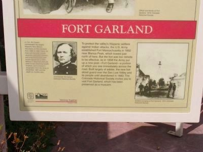 Fort Garland Marker image. Click for full size.