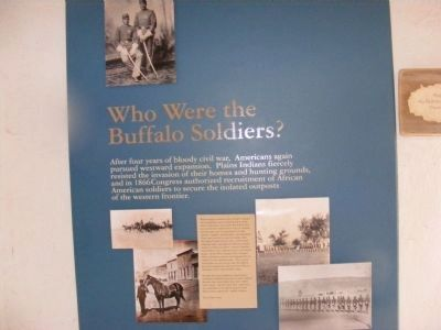 Fort Garland Museum-Who Were the Buffalo Soldiers image. Click for full size.