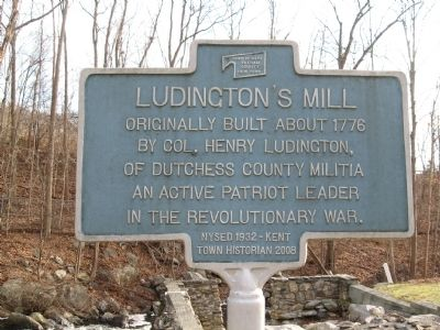 Ludington's Mill Marker image. Click for full size.