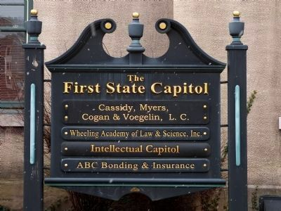 First State Capitol Sign image. Click for full size.