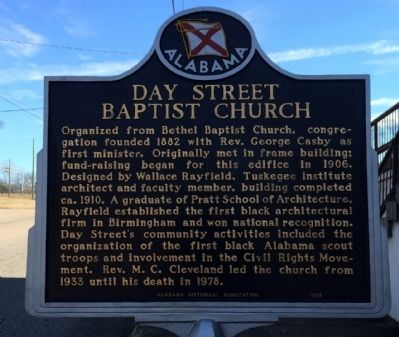 Day Street Baptist Church Marker image. Click for full size.