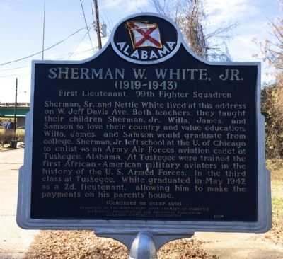 Sherman W. White, Jr. Marker image. Click for full size.