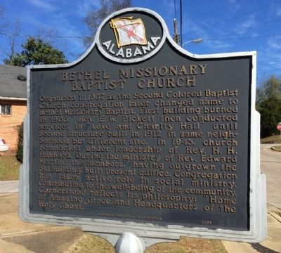 Bethel Missionary Baptist Church Marker image. Click for full size.