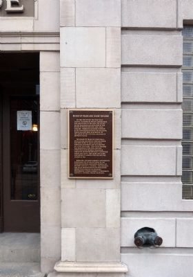 Board of Trade and Court Theatre Marker image. Click for full size.