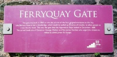 Ferryquay Gate Marker image. Click for full size.