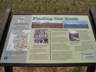 Finding Our Roots Marker - A image. Click for full size.