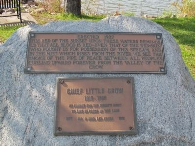 Chief Little Crow Plaques image. Click for full size.