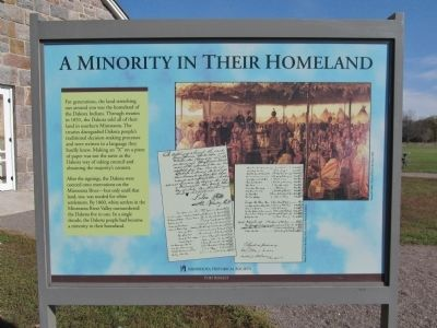 A Minority in Their Homeland Marker image. Click for full size.
