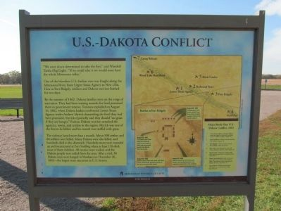 U.S.-Dakota Conflict Marker image. Click for full size.