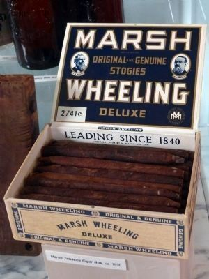 Marsh Tobacco Cigar Box, ca. 1930 image. Click for full size.