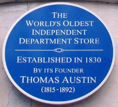 Austins Department Store Marker image. Click for full size.