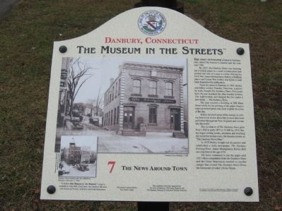 The News Around Town Marker image. Click for full size.
