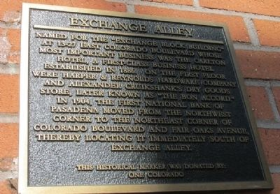 Exchange Alley Marker image. Click for full size.