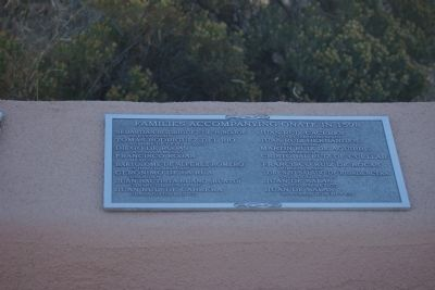 Cuarto Centenario Memorial Marker - Families Accompanying O�ate in 1598 image. Click for full size.