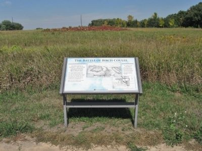 Birch Coulee Battlefield and Marker image. Click for full size.