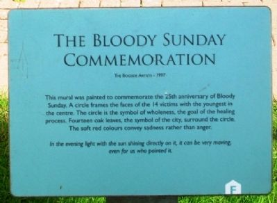 The Bloody Sunday Commemoration Marker image. Click for full size.