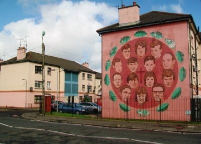 The Bloody Sunday Commemoration Mural and Marker image. Click for full size.