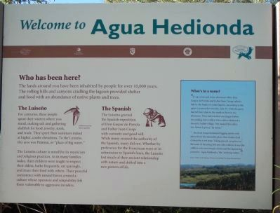 Welcome to Agua Hedionda Marker image. Click for full size.