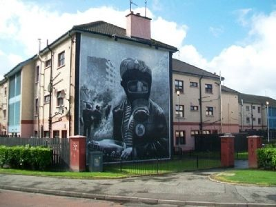 The Petrol Bomber Mural and Marker image. Click for full size.