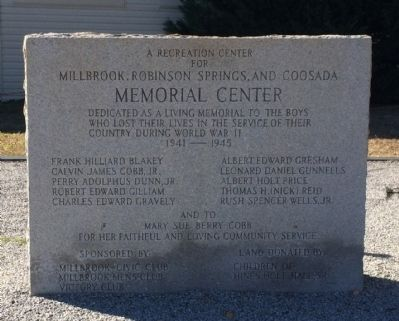 World War II Monument Center Marker image. Click for full size.