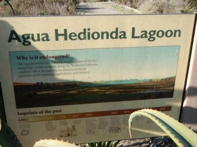 Agua Hedionda Lagoon Marker image. Click for full size.