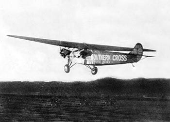"The ""Southern Cross"" takes off from Oakland, Cal. image. Click for full size."