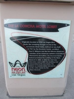 The La Concha Motel Lobby Marker image. Click for full size.
