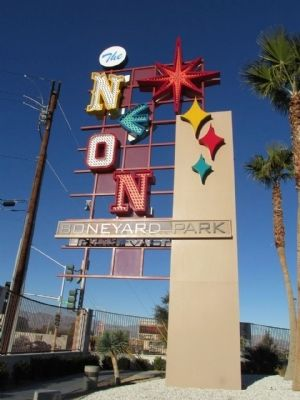 The Neon Boneyard Park Sign Marker image. Click for full size.